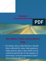 8. Using Secondary Data