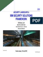 Security Landscape & IBM Security Framework Anthony KUL 230910