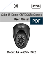 Avtron Ip Dome Camera for outdoor Aa 4535p Fsr2 Manual