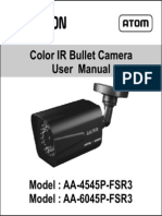 Avtron IR Bullet Camera AA-4545P-6045-FSR3-MANUAL