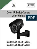Avtron IR Bullet Camera AA-4549P-6049-VSR7-MANUAL