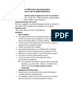 Acer F900 FR OS 2.001.00 Update Notification