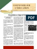 Cégep de l'Outaouais -- Coup d'oeil sur l'éducation 7(1) -- nov. 2013
