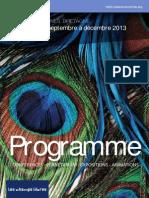 Programme septembre - décembre 2013