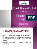 Charak introduces -Innoveda range of products for USA