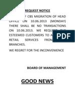 Request Notice