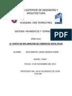 P10-PUNTO DE INFLAMACIÓN DE CEMENTOS ASFÁLTICOS