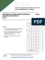 Add Math Spm Trial 2013 Kelantan Smkanaimlilbanat p2 Ans