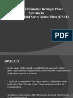 HSAF( HYBRID SERIES ACTIVE FILTER ) PPT