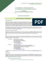 UNATS2009 Logistical Information