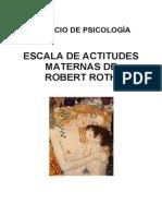 Escala de Actitudes Maternas de Robert Roth