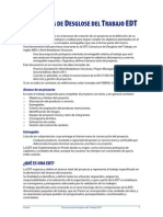 EDT Estructura de Desglose Del Trabajo