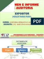 Dictamen e Informe de Auditoria