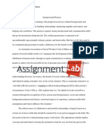 Interpersonal practice/Essay / Paper by AssignmentLab.com
