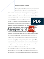 Mergers and acquisitions assignment/ Essay / Paper by AssignmentLab.com