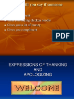 Expressions Thanking and apologizing