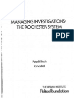 Bloch & Bell - Managing Investigations -- The Rochester System