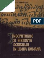 inceputurile biruintei scrisului in limba romana