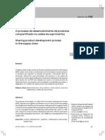 O Processo de Desenvolvimento de Produtos Compartilhado Na Cadeia de Suprimentos