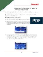 Honeywell L5100 Garage Door Zone Programming Guide
