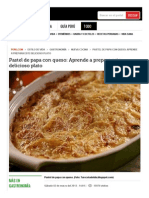Pastel de Papa Con Queso_ Aprende a Prepara Este Delicioso Plato _ Peru