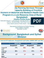 Improving Family Planning Services Through Training and Capacity Building of Frontline Workers of Maternal and Newborn Health Care Program in a Low-Resource Area of Rural Bangladesh