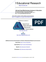 The State of Cost-Benefit and Cost-Effectiveness Analyses in Education