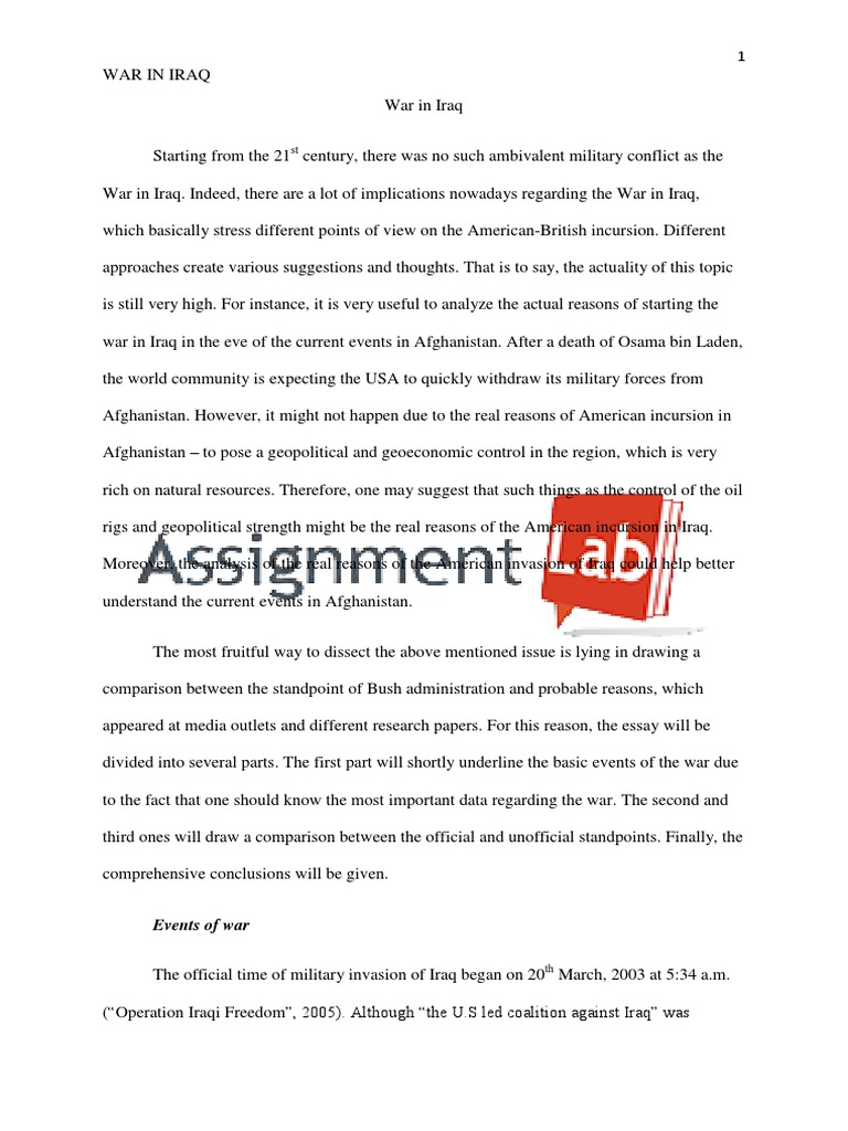 English Essays On Different Topics War In Iraq Essay  Paper By Assignmentlabcom  Iraq War  Iraqi Armed  Forces Reflective Essay Sample Paper also Persuasive Essay Topics High School War In Iraq Essay  Paper By Assignmentlabcom  Iraq War  Iraqi  High School Entrance Essay Examples