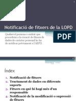 Notificació de fitxers de la LOPD