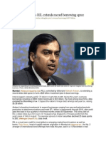 Mukesh Ambani's RIL extends record borrowing spree