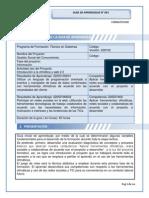 GUÍA DE APRENDIZAJE 001 - Técnico en Sistemas