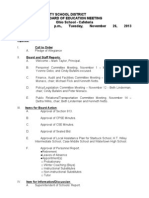 Watertown City School District Agenda Nov. 26, 2013