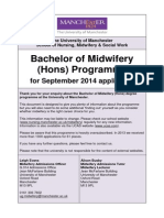 2014 Midwifery Information Pack (Updated April 2013)