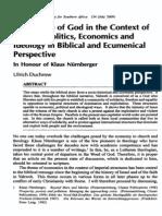 People of God - Economics and Ideology