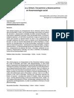 Juan Dukuen - Entre Bourdieu y Schutz Encuentros y desencuentros en fenomenología social