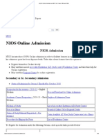 NIOS Online Admission 2011 for Class 10th and 12th