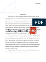 Drunk Driving/ Essay / Paper by AssignmentLab.com
