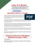 20131130 - Marchons contre le racisme-appel à manifester J  L