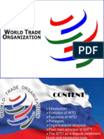 An Introduction to the WTO (Lecture One)