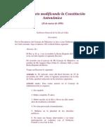 Real Decreto Modificando La Constitucion Autonomica
