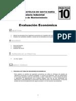 Practica 10 Evaluacion Economica 2013