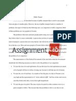 Public Transit/ Essay / Paper by AssignmentLab.com