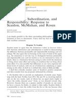 Kamm - Response to Scanlon, McMahan, And Rosen