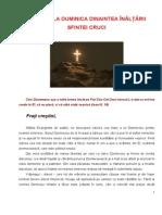 42 duminica dinaintea nlrii sfintei cruci