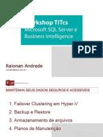 Apresentação WorkShop TITcs SQL Server-Alta Disponibilidade.pdf