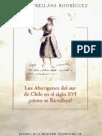 Aborigenes Sur Chile sXVI