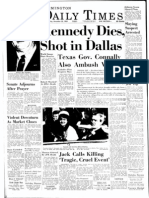 The Daily Times A1 pages from JFK assassination