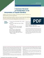 Consenso  en la interpretación de la elevación de troponina-2012