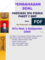 Pembahasan Soal Latihan Ujian Fisika SMP 01