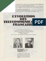 """Charles PAUTRAT, Marcel ROULET - L'évolution des télécommunications françaises, - La Jaune et la Rouge"""", n° 341, mai 1979.usionne 4"""